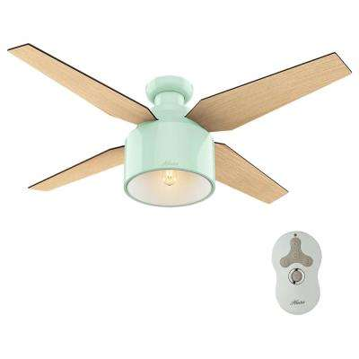 Cranbrook 52 in. LED Low Profile Indoor Mint Ceiling Fan