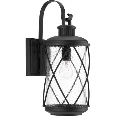 Hollingsworth Collection 1-Light Black 19 in. Outdoor Wall Lantern Sconce