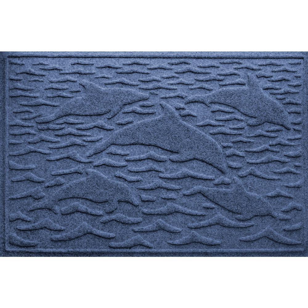Aqua Shield Navy 24 In. X 36 In. Statement Of Porpoise