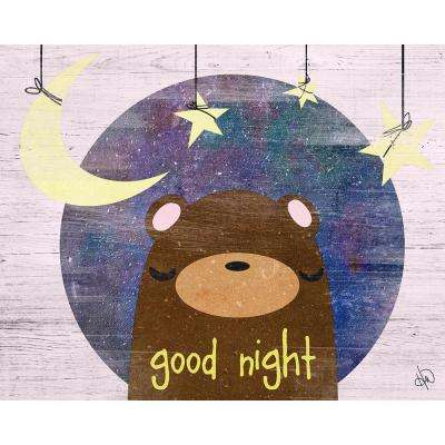 "16 in. x 20 in. ""Good Night"" Wrapped Canvas Wall Art Print"