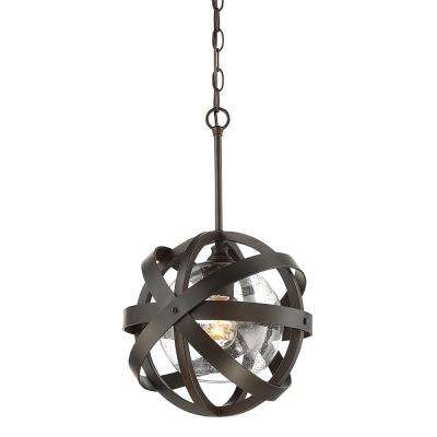 English Bronze 1-Light Outdoor Hanging Pendant