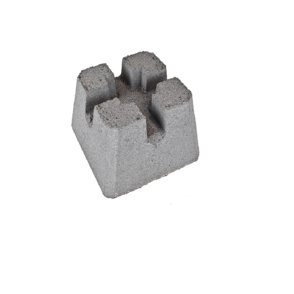 Headwaters 12 In X 8 Concrete Patio Pier Block Pierblock The Home Depot