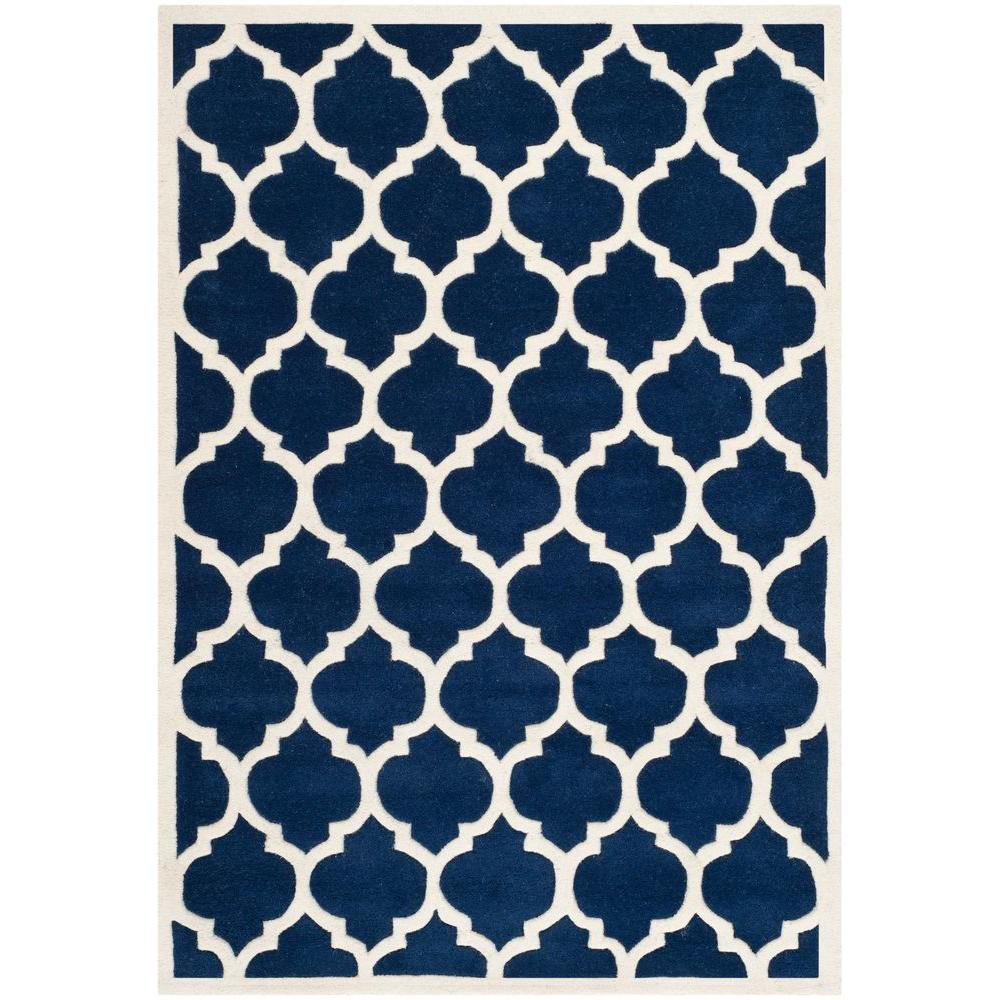 Chatham Dark Blue/Ivory 4 ft. x 6 ft. Area Rug