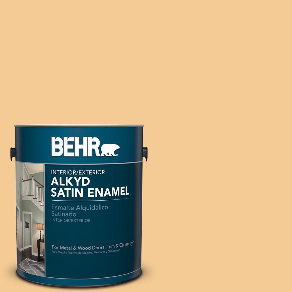 1 gal. #AE-22 Burlap Gold Satin Enamel Alkyd Interior/Exterior Paint