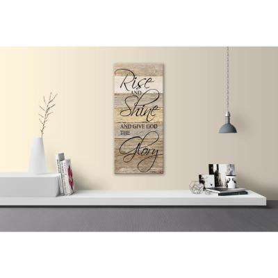 RISE SHINE AND GIVE GOD THE GLORY Reclaimed Wood Decorative Sign