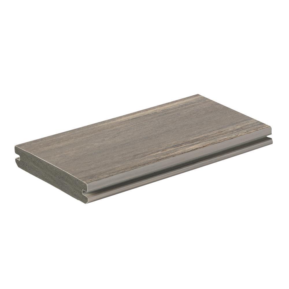 AZEK Vintage 1 in. x 5.5 in. x 1 ft. Coastline PVC Deck Board Sample
