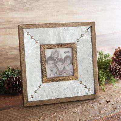 Hammered Tin 4 in. x 4 in. Frame