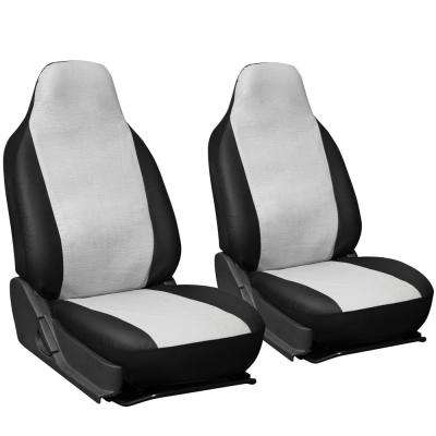 Polyurethane Seat Covers 21.5 in. L x  21 in. W x 31 in. H  Seat Cover Set in White and Black (2-Piece)
