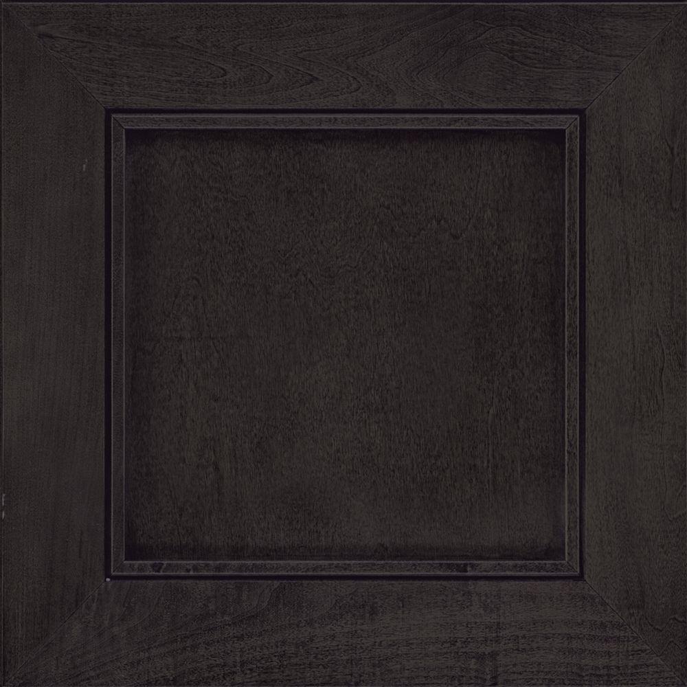 Black Kitchen Cabinet Doors: KraftMaid 15x15 In. Cabinet Door Sample In Carter Maple In