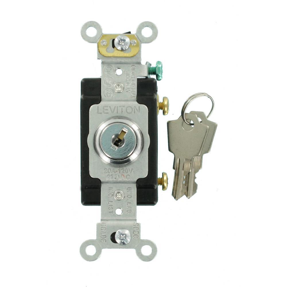 20 Amp Industrial Grade Heavy Duty Single-Pole Key Locking Switch