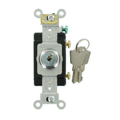 20 Amp Industrial Grade Heavy Duty Single-Pole Key Locking Switch