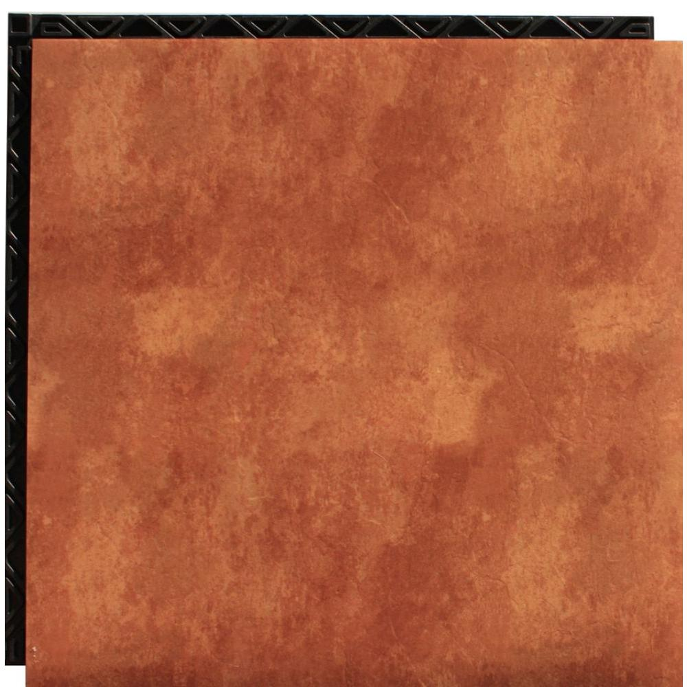 Place N Go Terra Cotta 18 5 In X 18 5 In Interlocking
