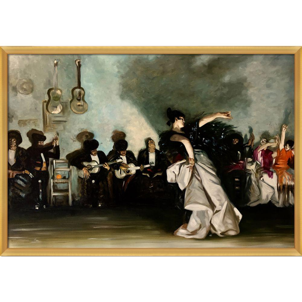 LA PASTICHE El Jaleo with Piccino Luminoso Frameby John Singer Sargent Oil Painting, Multi-Colored was $1186.0 now $580.06 (51.0% off)