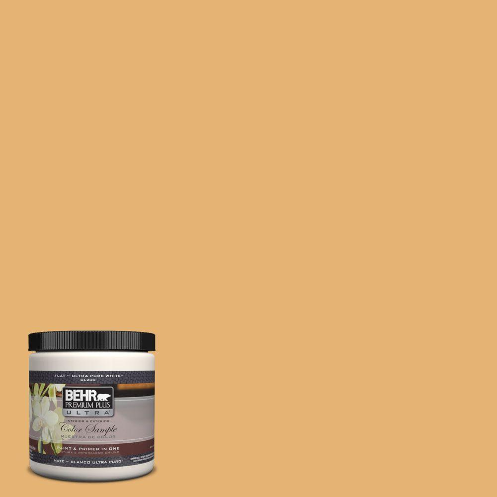 BEHR Premium Plus Ultra 8 oz. #UL150-13 Pyramid Gold Matte Interior ...