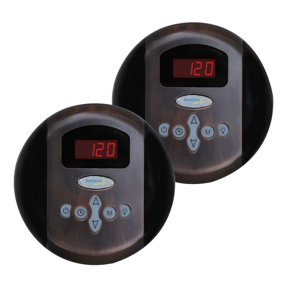 SteamSpa Programmable Steam Bath Generator Dual Control Panels in Oil Rubbed Bronze