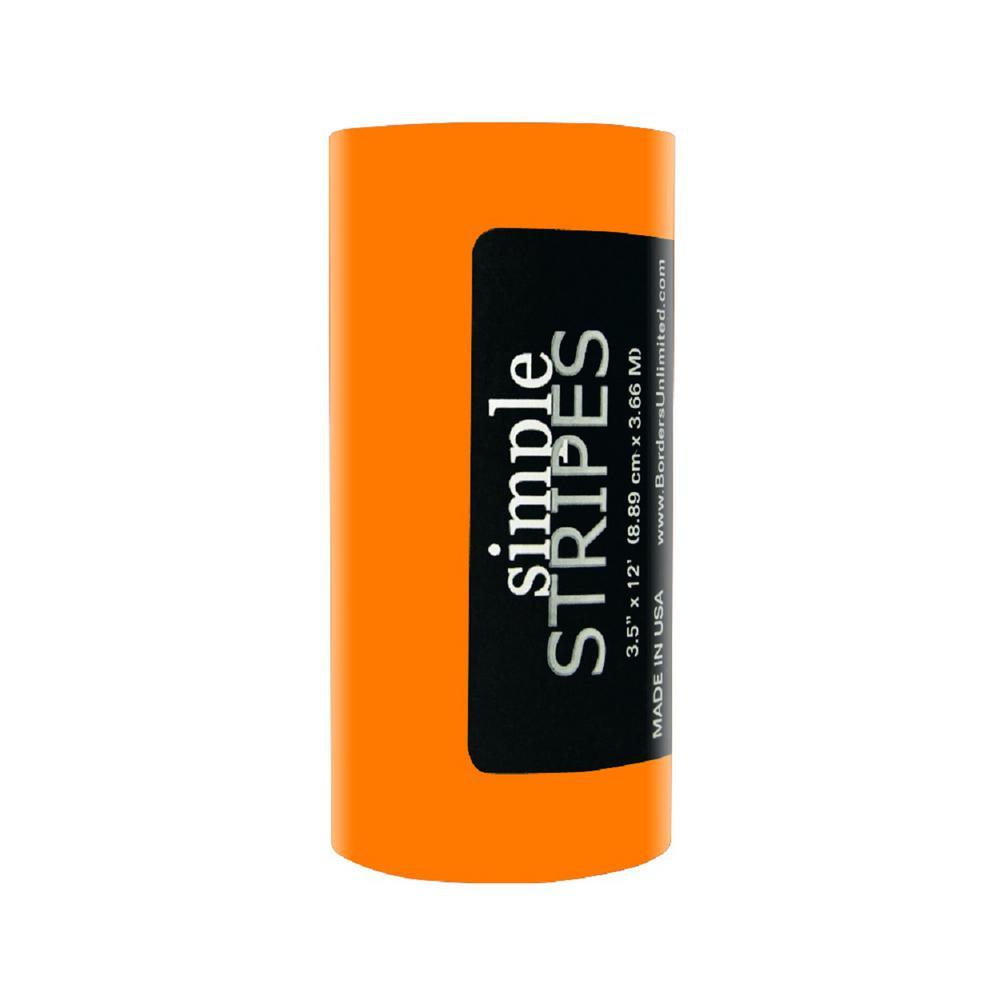 Simple Stripes Orange Spirit Peel and Stick Wall Appliques
