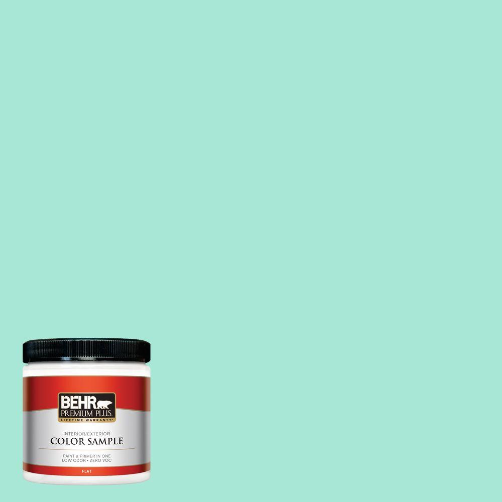 BEHR Premium Plus 8 oz. #480A-2 Botanical Tint Flat Interior/Exterior Paint and Primer in One Sample