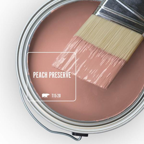 Reviews For Behr Ultra 1 Gal T15 20 Peach Preserve Extra Durable Semi Gloss Enamel Interior Paint Primer 375401 The Home Depot