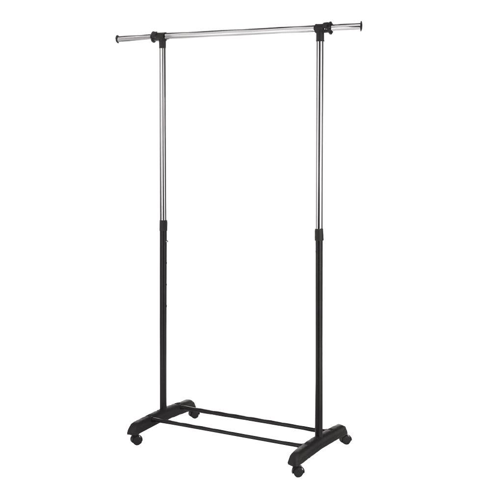 Order Home Collection 56 in. x 67.5 in. Single Rod Adjustable Garment Rack