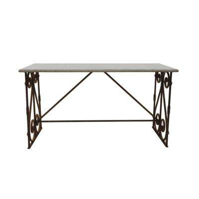 Rust and Cream Iron Table