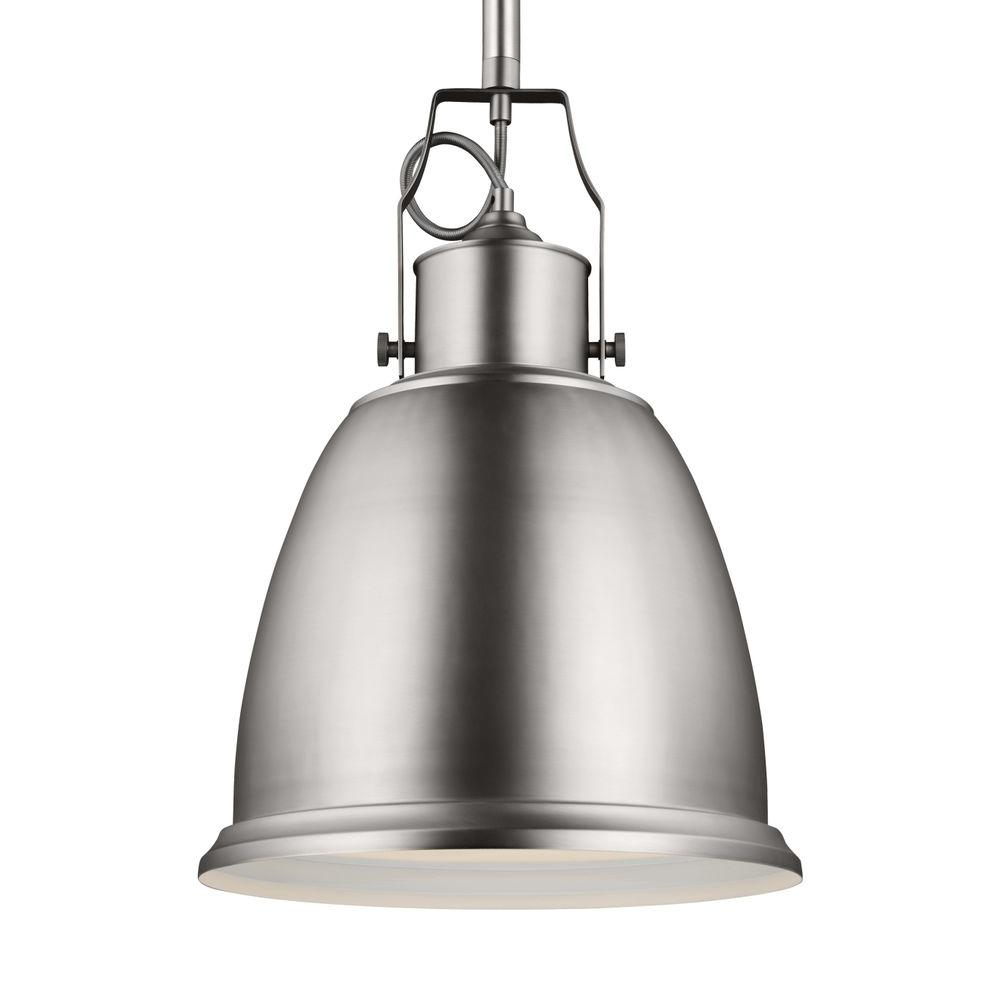 Hobson 1-Light Satin Nickel Indoor Pendant