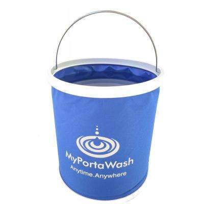Collapsible 3 Gal. Blue Leakproof Bucket