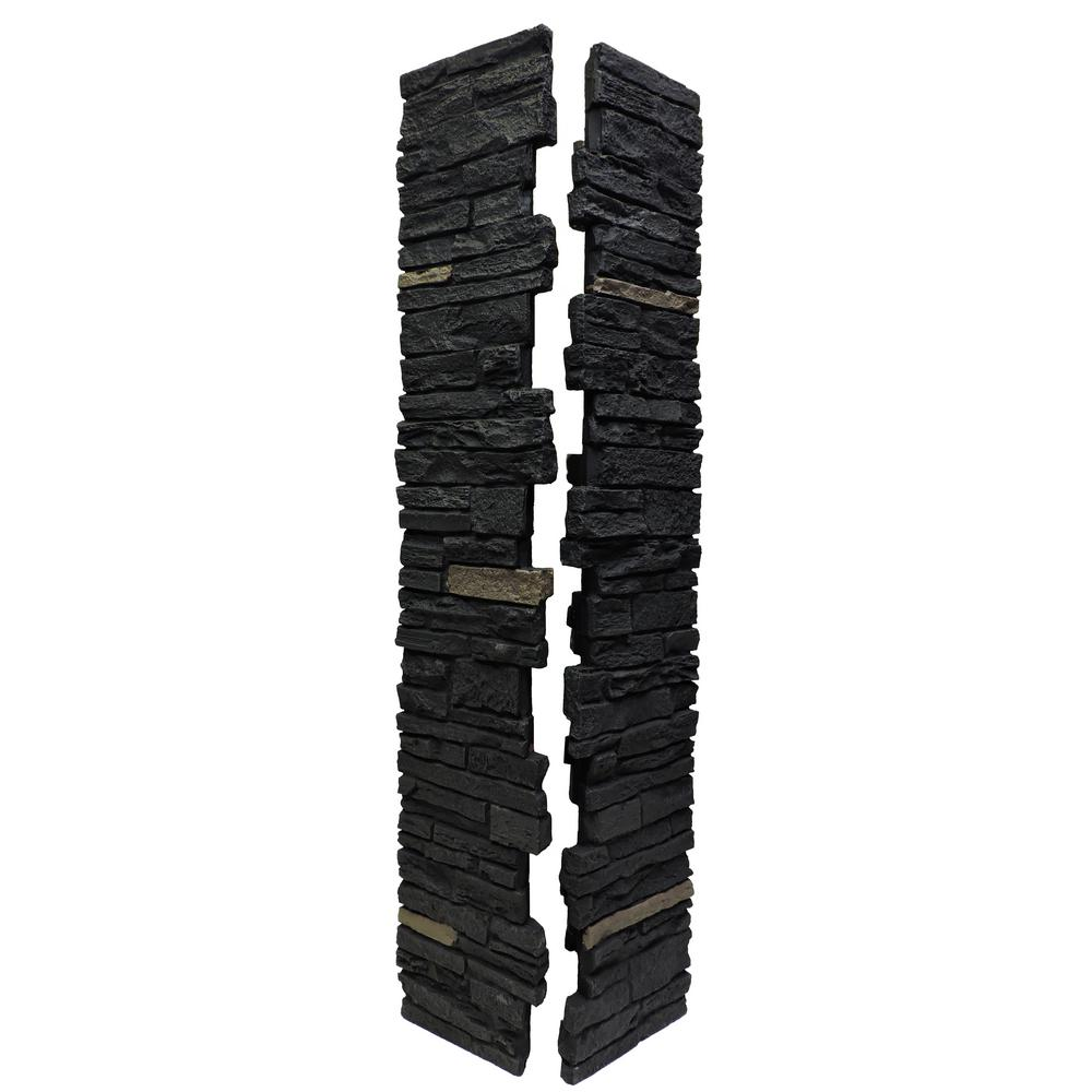Slatestone Onyx 8 in. x 8 in. x 41 in. Faux Polyurethane Stone - Deck Posts & Post Sleeves - Decking - The Home Depot