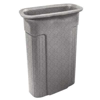 Slimline 23 Gal. Graystone Rectangular Trash Can