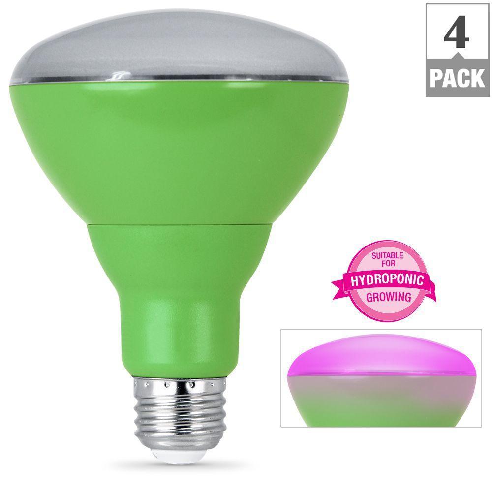 65W Equivalent BR30 Full Spectrum LED Plant Grow Light Bulb (Case of 4)