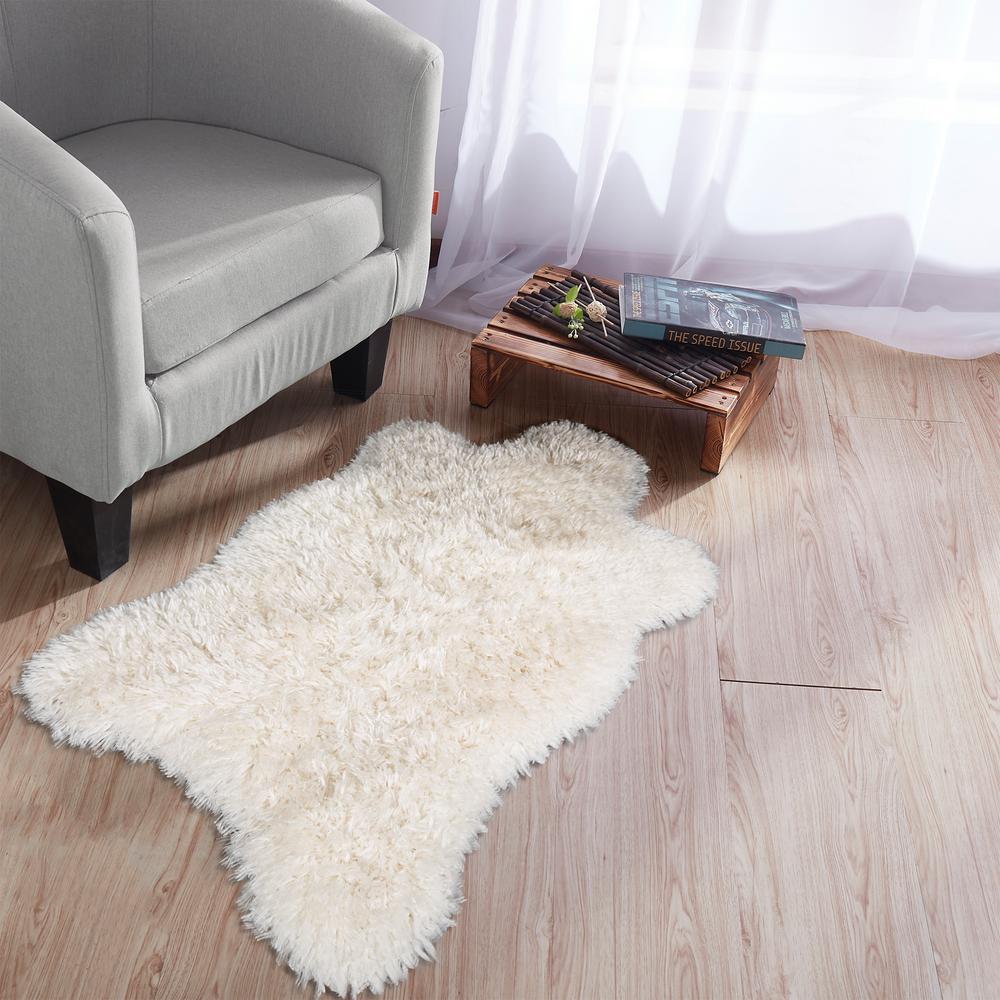Ottomanson Flokati High Pile White 2 ft