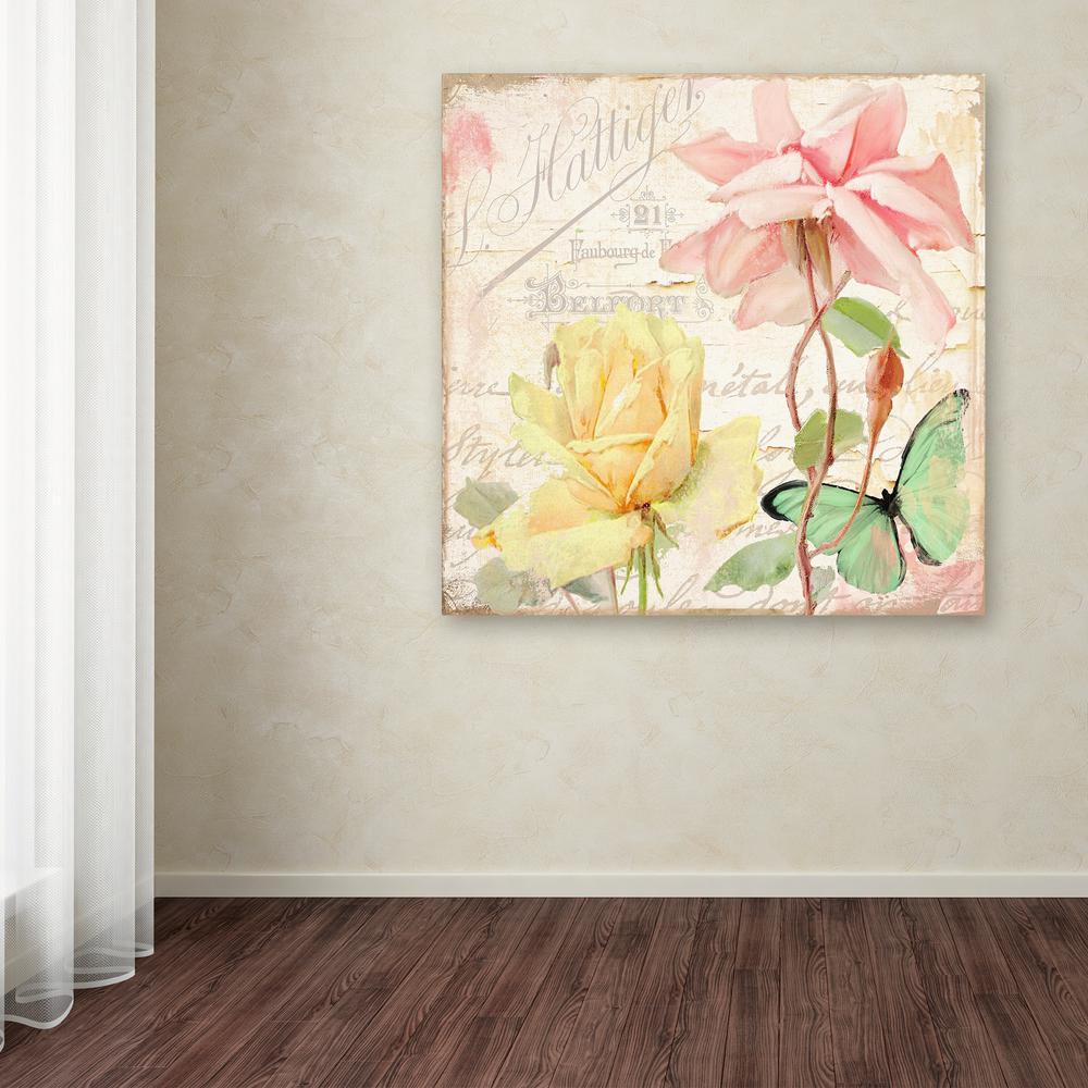 Trademark Fine Art 18 in. x 18 in. ''Florabella IV'' by