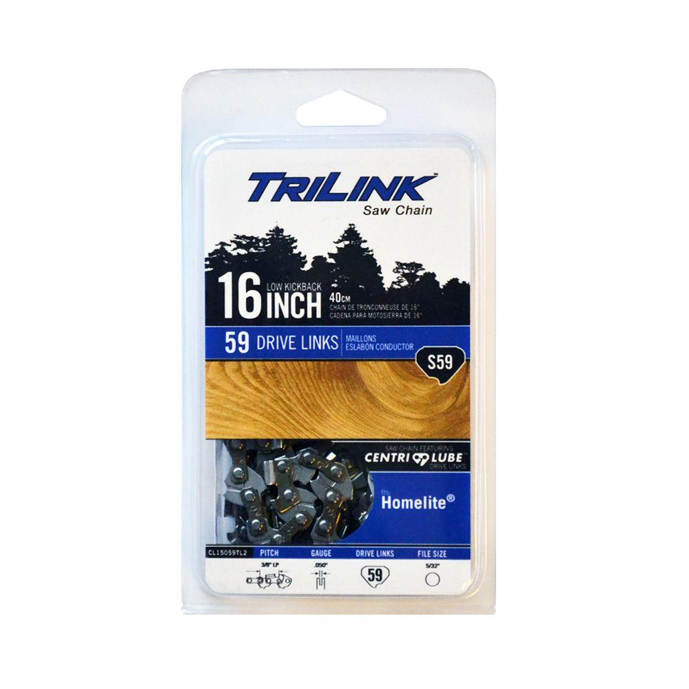 Trilink 16 in s59 semi chisel chainsaw chain cl15059tl2 the home s59 semi chisel chainsaw chain greentooth Gallery