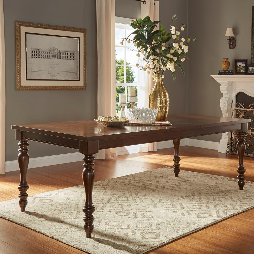 Madison Burnished Dark Oak Extendable Dining Table