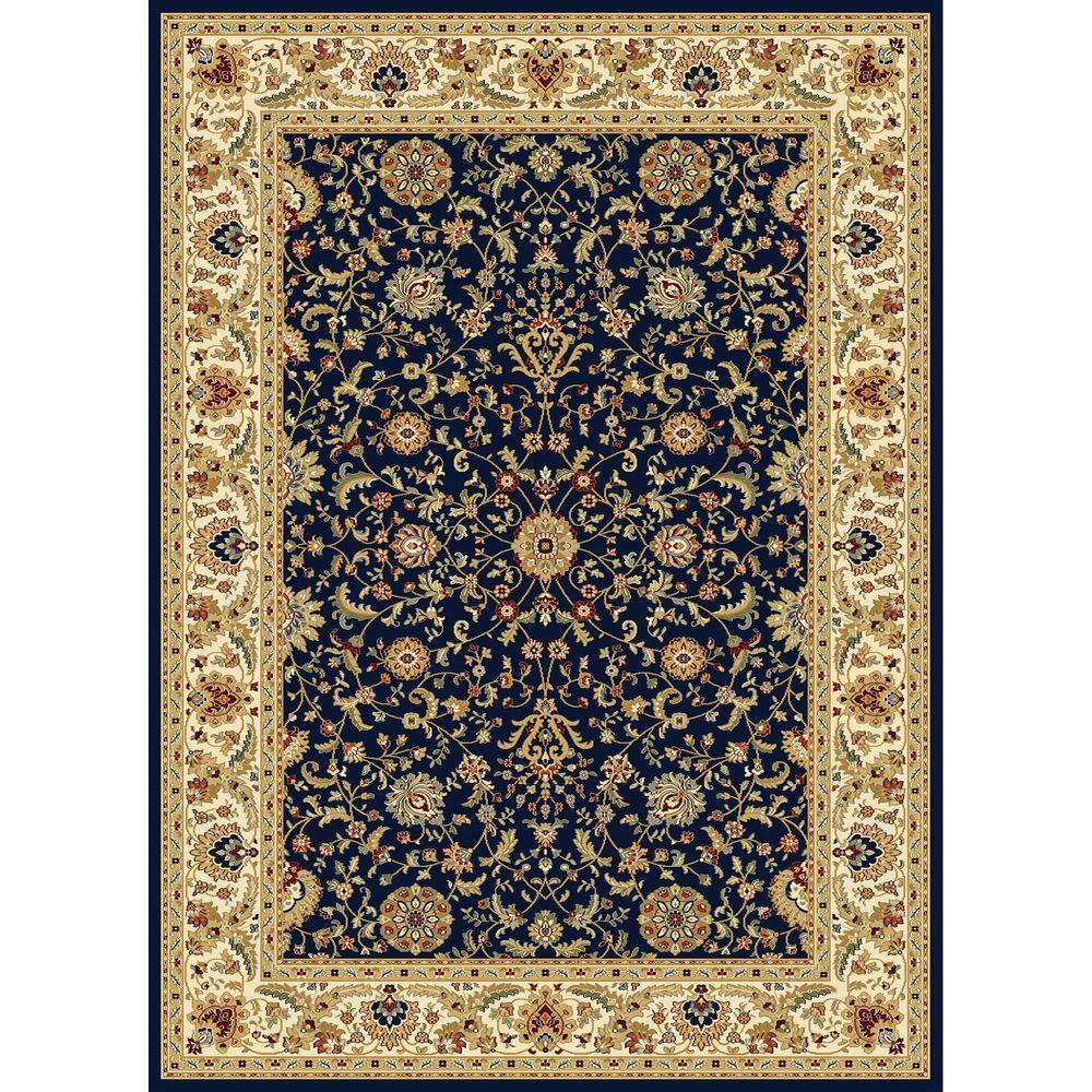 7x10 Rug: Tayse Rugs Fairview Navy 6 Ft. 7 In. X 9 Ft. 6 In. Area