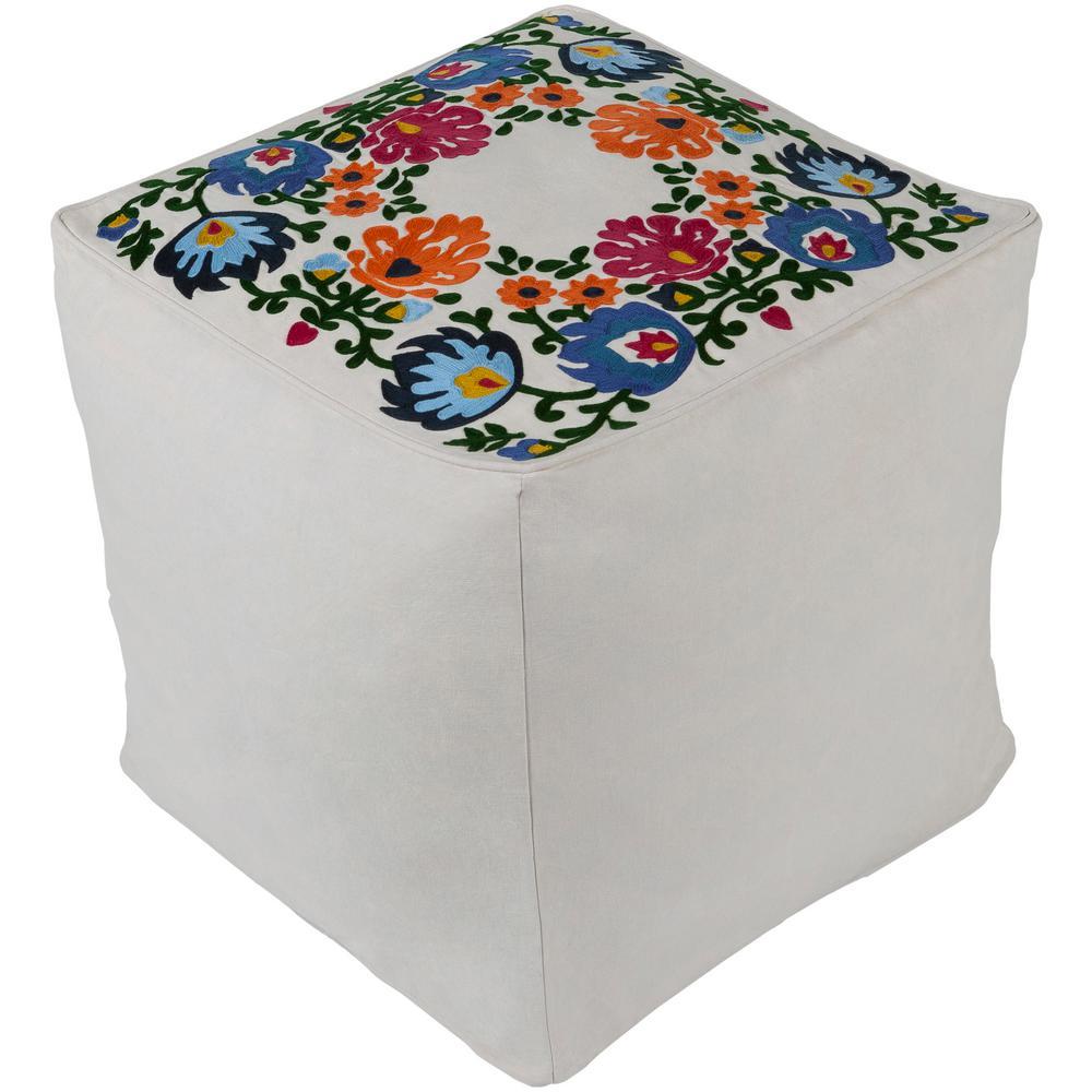 Artistic Weavers Rathbone Multi-Color Accent Pouf Ottoman...
