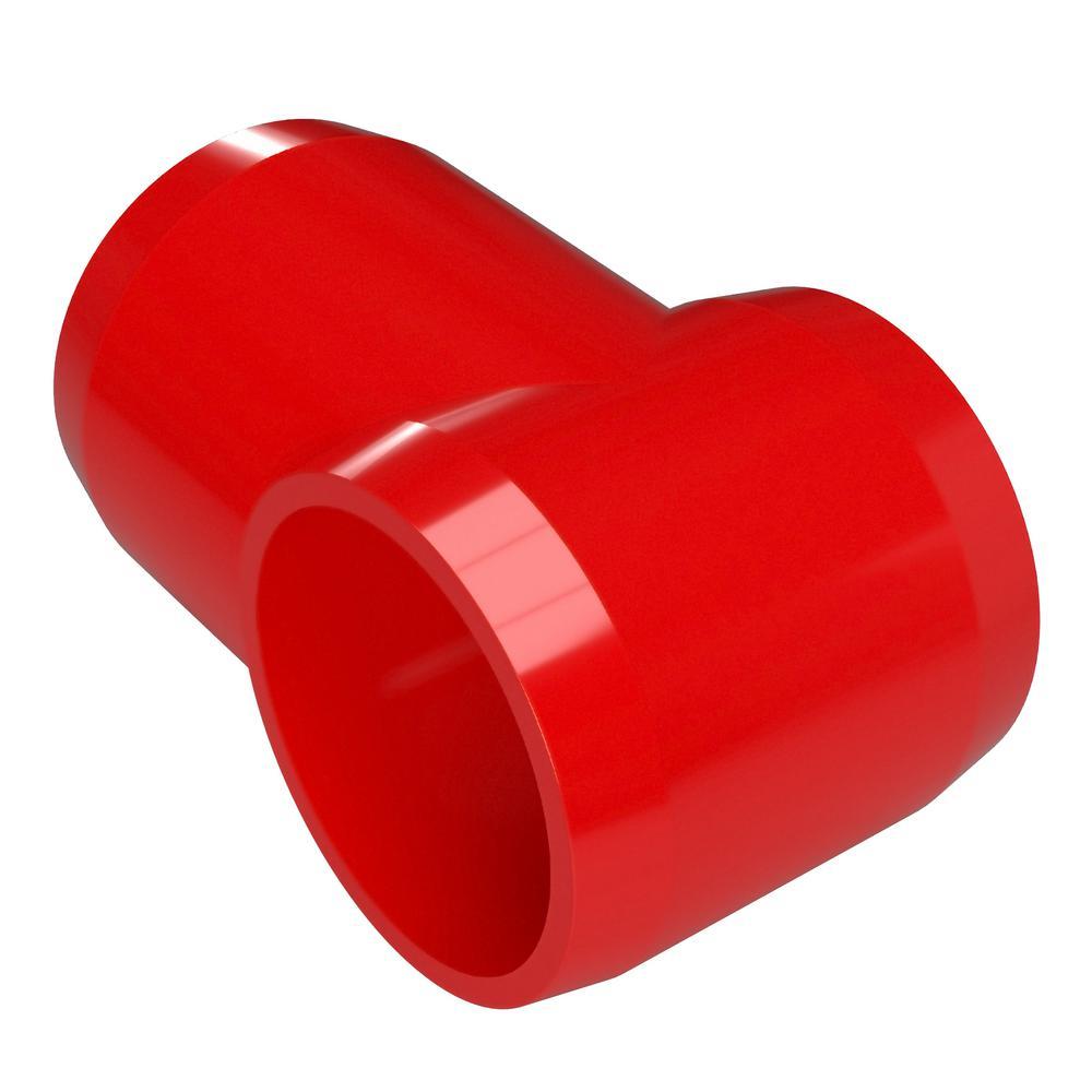 1-1/4 in. Furniture Grade PVC Slip Sling Tee in Red (4-Pack)