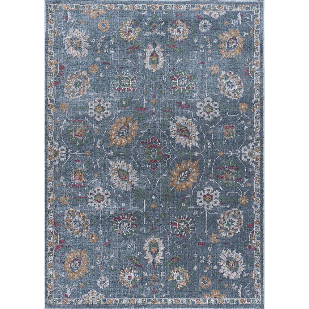 Tayse Rugs Aria Gray 5 Ft. 3 In. X 7 Ft. 3 In. Area Rug