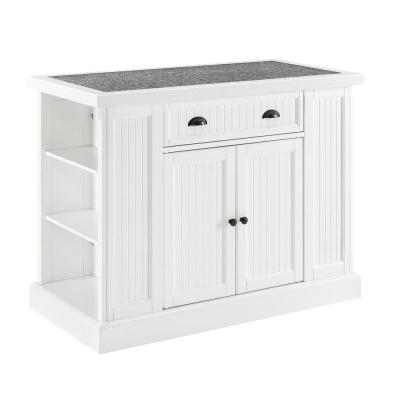 Seaside White Kitchen Island