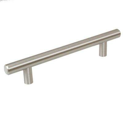 5 in. Thick Solid 7-3/8 in. Long Stainless Steel Finish Bar Handle Pull (10-Pack)