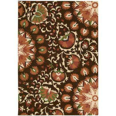 Suzani Brown 5 ft. 3 in. x 7 ft. 5 in. Area Rug