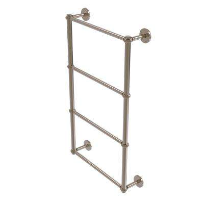 Prestige Skyline Collection 4-Tier 24 in. Ladder Towel Bar with Twisted Detail in Antique Pewter