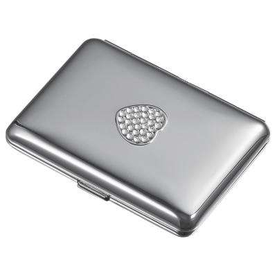Clear Crystals Heart Cigarette Case