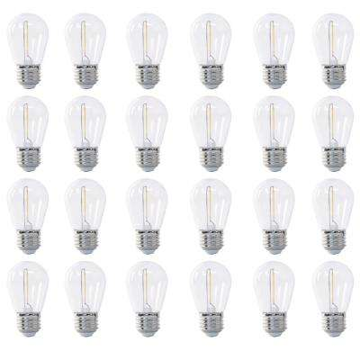 11W Equivalent Soft White (2200K) S14 String Light LED Light Bulb (24-Pack)