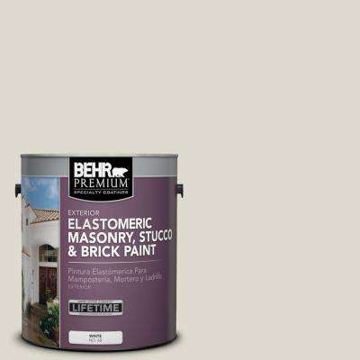 1 gal. #MS-48 Misty Cove Elastomeric Masonry, Stucco and Brick Exterior Paint