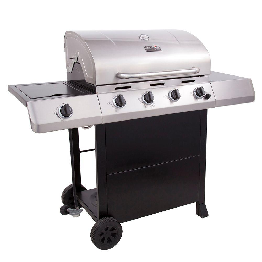 Char-Broil Classic 4-Burner Stainless Steel Propane Gas Grill
