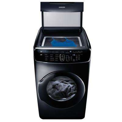 7.5 Total cu. ft. Electric FlexDry Dryer with Steam in Black Stainless