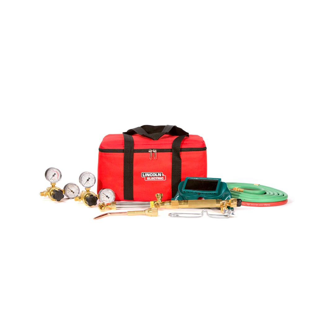 Lincoln Electric Cut Welder Kit with Torch, Oxygen and Acetylene  Regulators, 3/16 in  x 12 ft  Hose, for Cutting Welding and Brazing