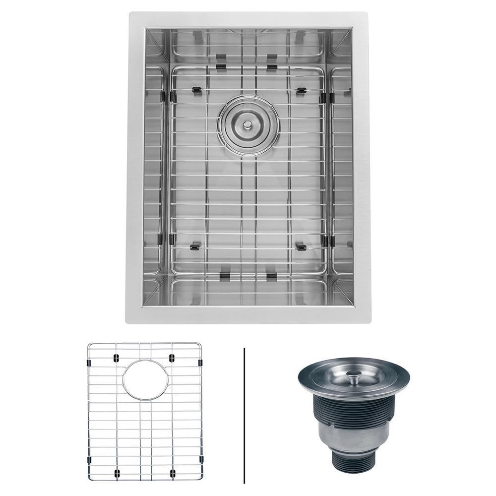 ruvati undermount stainless steel 14 in  bar prep single bowl kitchen sink 16 gauge ruvati undermount stainless steel 14 in  bar prep single bowl      rh   homedepot com