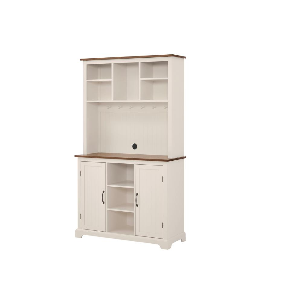 Stylewell Bainport Ivory Wood Buffet Table With Haze Top 42 In W X 72 In H Sk16949r2 The Home Depot