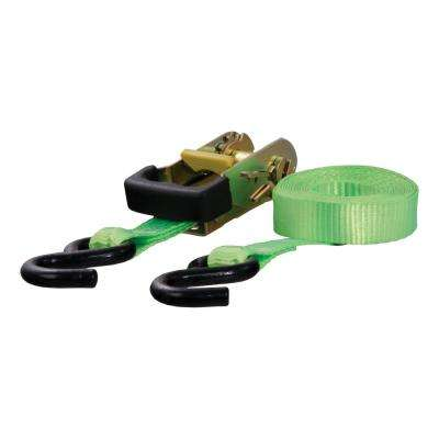 16' Lime Green Cargo Strap with S-Hooks (1,100 lbs.)